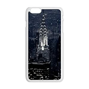 Generic Cell Phone Case Cover For Apple iPhone 6 Plus case 5.5 inch case DIY Personalized Custom New York City Skyline at Night - Empire State Building Mobile Phone Cases Protective Skin Black White Plastic Hard Shell