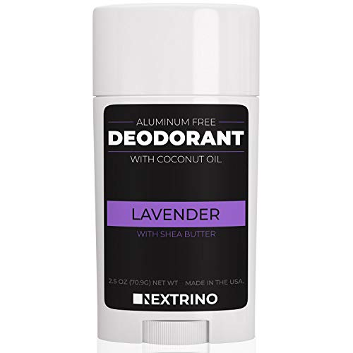 All Natural Aluminum Free Deodorant - Made in the USA with Coconut Oil & Essential Oils for Women and Men - Vegan, Non-GMO & Organic Ingredients (Lavender)