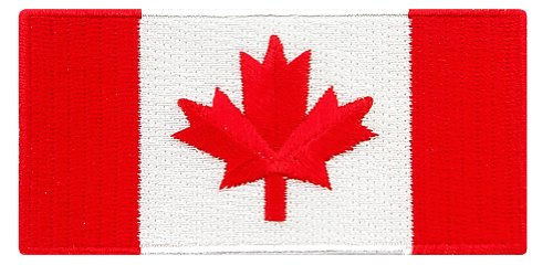 Canada Flag Embroidered Patch Canadian Maple Leaf Iron-On National Emblem (Backpack Flag Canada Women compare prices)