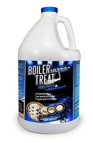 Boiler Treat ULTRA DELIMER & DESCALER - 1 Gallon (Removes Scale & Lime in Steam Boilers, Hot Water Systems, Closed Loop Systems & Wood Burning Boilers) (Wood Burning Piping)