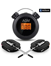 AGM Barbecue Thermometer with 2 Probes, Wireless Bluetooth App Controlled, Kitchen Food Meat Thermometer with Alarm Function, Works Range Far to 300 feet, Batteries Included