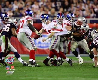 (Photo File Eli Manning Breaking Tackles Super Bowl XLII 8x10)