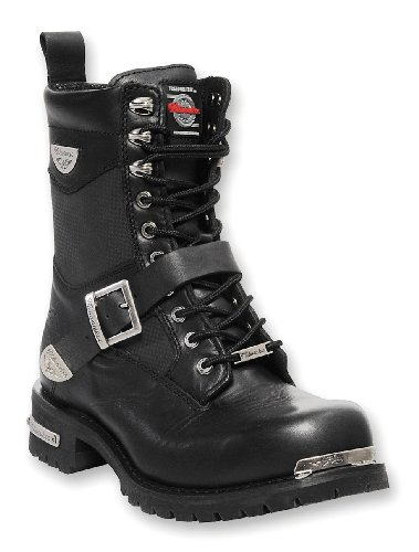 Mens Renegade Motorcycle (Milwaukee Motorcycle Clothing Company Renegade Leather Men's Motorcycle Boots (Black, Size 8.5D))