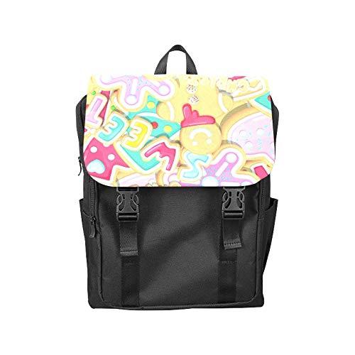 Flap Backpack Baking Design Creativity Cute Printing Flip Cover Laptop Backpack Zipper Pocket Bookbags College Backpack for Unisex Adult Women ()