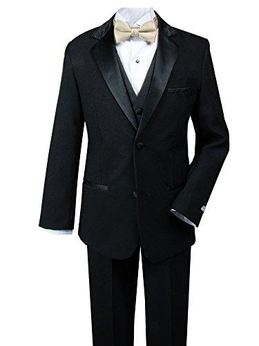 Spring Notion Big Boys' Modern Fit Tuxedo Set, No Tail 14 ()