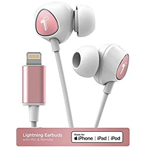 Thore Wired in Ear Headphones for iPhone Xr, Xs Max, iPhone 11, 11 Pro Max Earphones with Mic – Lightning MFi Certified by Apple Earbuds with Remote Microphone + Playback, Volume Control (V100 2019)
