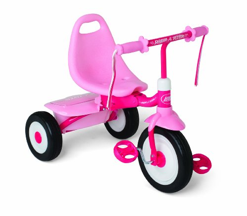 Radio Flyer Girls Fold 2 Go Trike, Pink (Tricycle Fold 2 Go Trike)