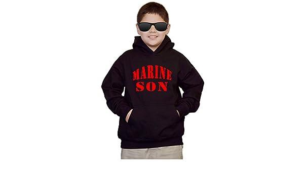 Youth Marine Son V490 Black kids Sweatshirt Hoodie