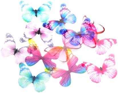 [해외]Hellery 쉬폰 나비 장식 귀여운 헤어 액세서리 / Hellery Chiffon Butterfly Decoration Cute Hair Accessories