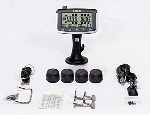EEZTire-TPMS Real Time/24×7 Tire Pressure Monitoring System (TPMS4) – 4 Anti-Theft Sensors, incl. 3-Year Warranty
