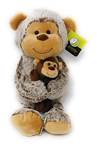 Animal Adventure - Plush MONKEY and BABY MONKEY (Appr 12.5 Inch) -