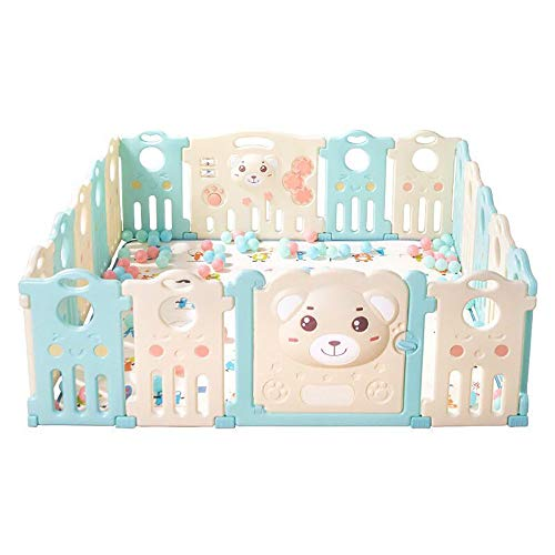 F&W WF Baby Child Playpen, Baby Playpen Indoor Safety Play Yard Strong and Durable Easy to Install Washable16 Panels Activity Center Indoor Outdoor