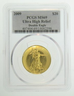 2009 2009 Ultra High Relief Double Eagle $20 MS69 PCGS