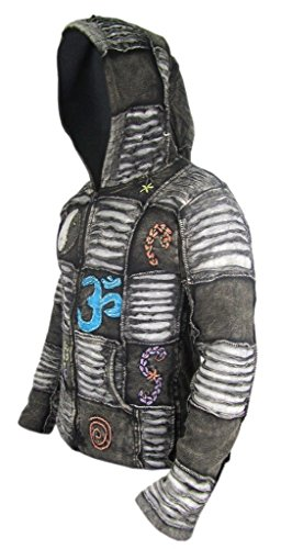 Kathmandu Giacca Black Winter Little Uomo Lunghe Lined fleece Maniche 6OwdRR5Uqx