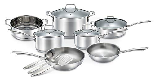 Chef's Star Professional Grade Stainless Steel 14 Piece Pots