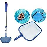 JOEPET Swim Pool Net Leaf Skimmer Rake,26Cm Professional Grade Medium Fine Mesh Swimming Pool Pond Cleaning Tools