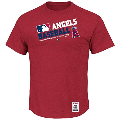 Mlb Mens Authentic Collection Team Choice T Shirt  Medium  Los Angeles Angels Of Anaheim