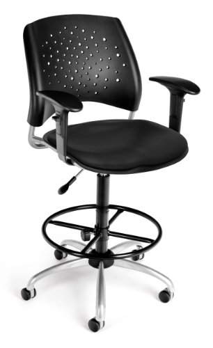 OFM 326-V-AA3DK-606 Stars Swivel Vinyl Chair with Arms and D