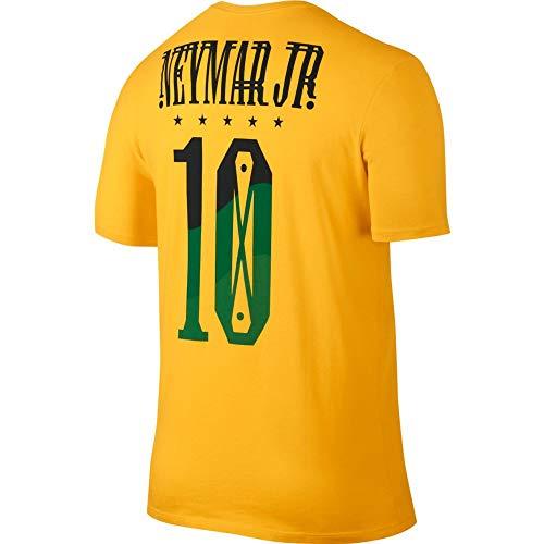 - Nike Neymar Santos Brazil Yellow Hero T-Shirt