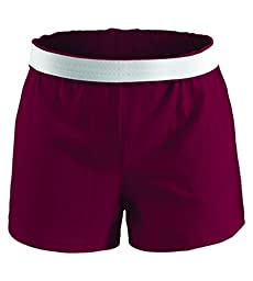 Soffe Athletic Cheer Short, Maroon, X-Large