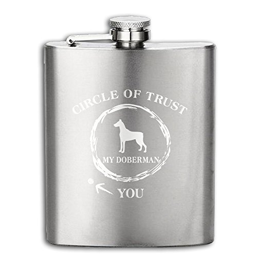 Hip Flask Circle Of Trust My Doberman You Stainless Steel Flask 8oz