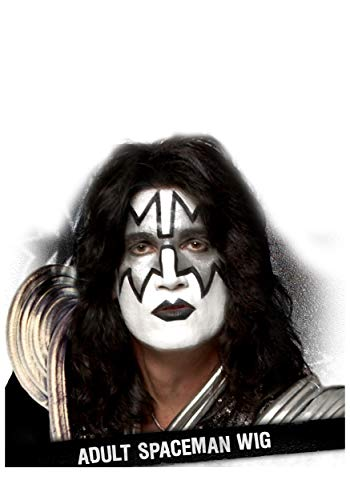 KISS Spaceman Adult Rock Band Synthetic Wig Standard