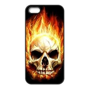 Iphone 5,5S Skull Phone Back Case DIY Art Print Design Hard Shell Protection LK098470