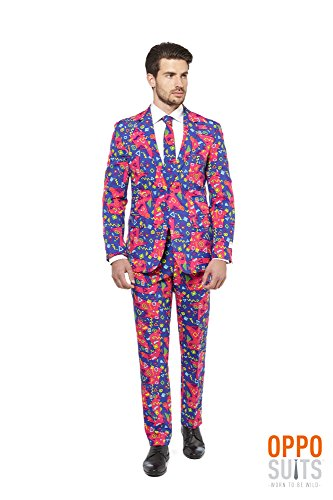 Prince Fresh Costumes (OppoSuits Men's the Fresh Prince-Party Costume Suit, Purple/Mixed,)