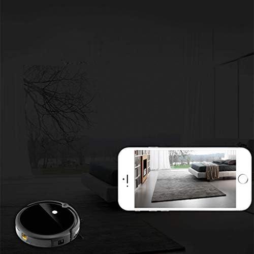 Robot Aspirateur Caméra Frontale APP contrôle Intelligent Robot télécommandé Super Design Silencieux Tapis Fins sols durs Noir