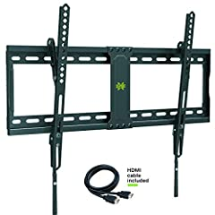 """Universal TV Mounts This tilting TV wall mount bracket fits most 37"""" 42"""" 50"""" 55"""" 60"""" 65"""" 70"""" TVs up to 132 LBS, with VESA size available 200*100mm, 200*200mm, 400*200mm, 400*400mm, 600*400mm. Even above the fireplace, you can tilt it down 10°..."""
