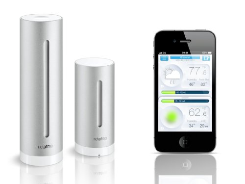 Netatmo Weather Station Indoor Outdoor with Wireless Outdoor Sensor, Compatible with Amazon Alexa