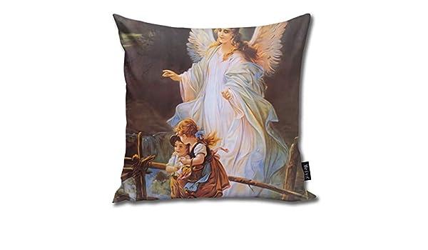 Bestsocks - Funda de cojín (45 x 45 cm), diseño de ángel de ...