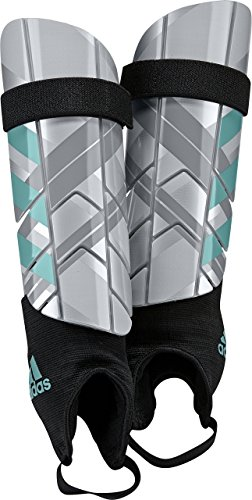 - adidas Performance Ghost Reflex Shin Guards, Silver Metallic/Clear Onix/Energy Blue, Small