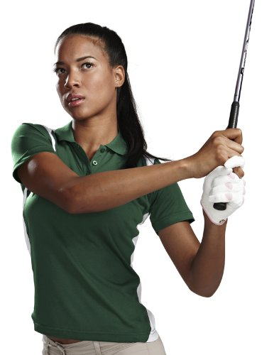 Tri-Mountain 143 Lady Blitz Moisture Wicking Antimicrobial Golf Shirt by Tri-Mountain