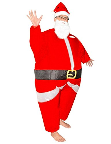 Christmas Santa Claus Inflatable Costume Suit Adult Blow up Full Body Jumpsuit