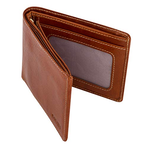 e89da0bf1c13 Giudi Men's Leather Wallet - Cow Leather Deluxe Wallet for Men - Made in  Italy - Elegant Brown, Multiple Slots and Pockets - Slick and Lightweight  ...