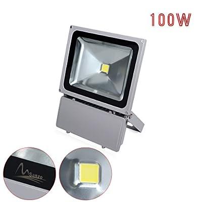 Drmus 100W Cool White LED Spotlight Flood Light Projector Lamp Ideal for outdoor lighting Parking lot lighting, Construction building, Advertisement billboard, Landscape (Pack of 4)