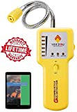 Natural Gas Detector, Propane Gas Leak Detector, Gas Sniffer, Portable Combustible Explosive Gas Sensor, Tester: Methane, Butane, LPG, LNG; Sound & LED Warning, Flexible Sensor Neck; eBook