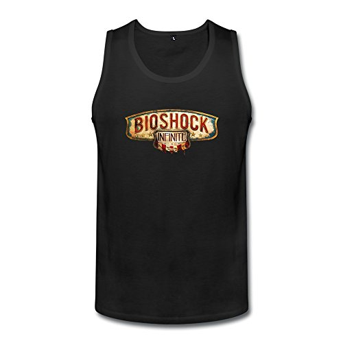 BioShock Infinite Logo Mens BioShock Infinite Logo Tanks Black