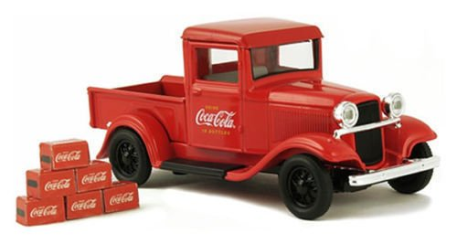 MOTOR CITY CLASSICS 1:43 COCA-COLA - 1934 FORD MODEL A PICKUP WITH COCA-COLA BOXES DIECAST TOY CAR 443743
