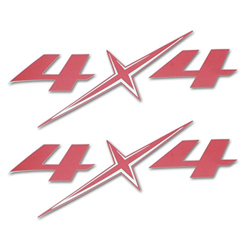 Powerwarauto Sticker Badge 4x4 Red Silver For Isuzu Holden D-Max Pickup 2012 2018