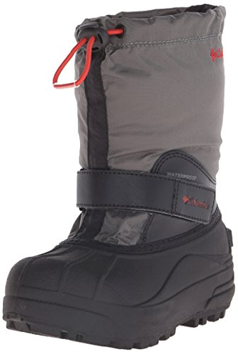 Columbia Childrens Powderbug Forty Winter Boot (Toddler/Little Kid), Black/Sail Red, 8 M US (Columbia Powderbug Winter Boot)