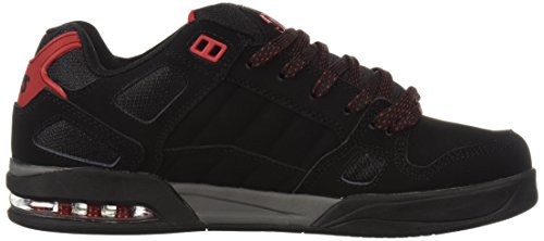 Hombre Nubuck Zapatillas Red DVS para Shoes Negro de Black Skateboard Drone 005 xwqAvHqUY