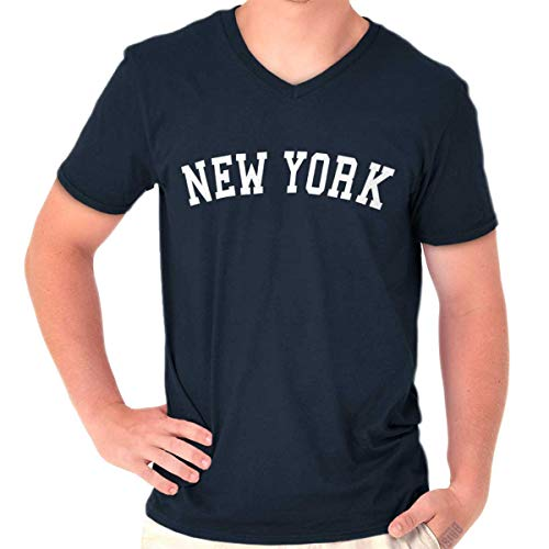 (New York State Shirt Athletic Wear USA Novelty Gift Ideas V-Neck T Shirt)