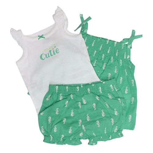 Baby Kids Children Girl's Pants Set Cap Sleeve Tops and Short Pants - 8