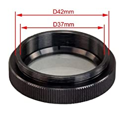 OMAX 42mm Thread Ring Light Adapter with Protection Glass for Bausch & Lomb Microscopes