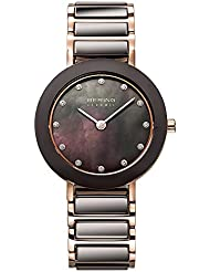 BERING Time 11429-765 Womens Ceramic Collection Watch with Stainless steel Band and scratch resistant sapphire...