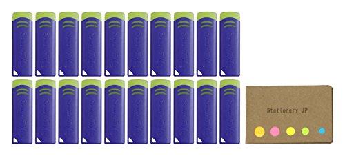 Pilot FriXion Eraser New Model, Blue Color, 20-pack, Sticky Notes Value Set by Stationery JP (Image #2)