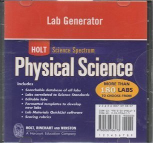 Holt Science Spectrum: Physical Science with Earth and Space Science: Lab Generator CD-ROM