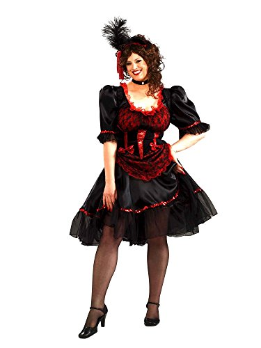 Forum Novelties Women's Plus Size Saloon Girl Plus Size Costume, Red, Plus Size]()